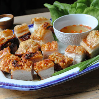 Super Crispy Salt-crusted Pork Belly.