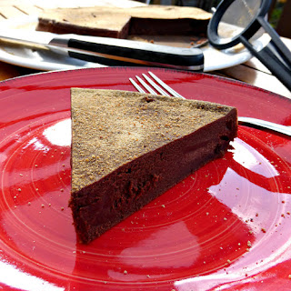 Healthier Dark Chocolate Kladdkaka (Gluten Free)