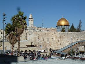 Photo: The Western Wall, regarded by the Jews as one of the holiest places to pray.