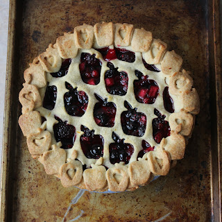 Berry And Apple Pie With Orange Shortbread Pastry Art