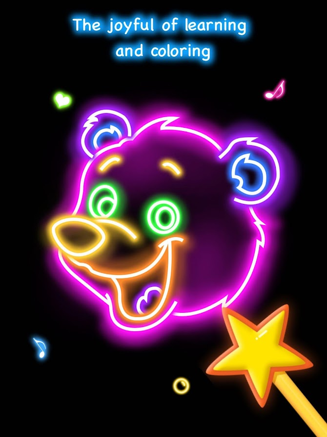 Draw Glow Animals Android 13