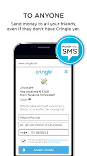 Cringle - send money for free- screenshot thumbnail