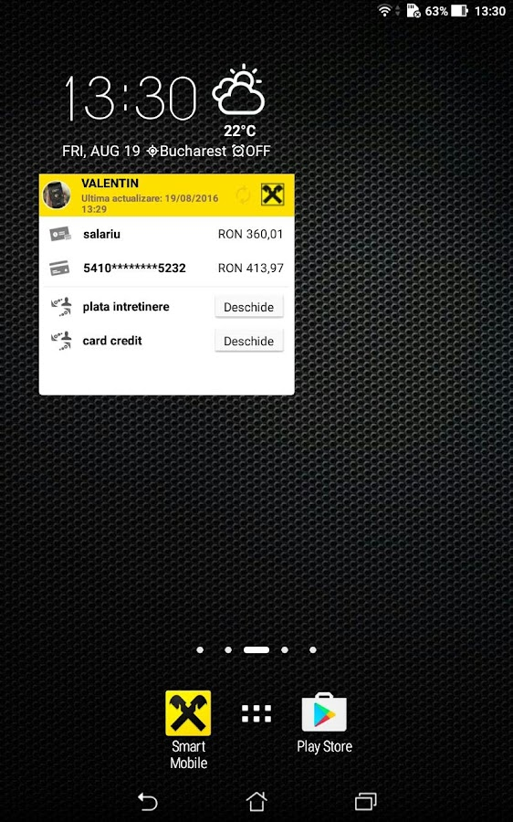 Raiffeisen Smart Mobile- screenshot