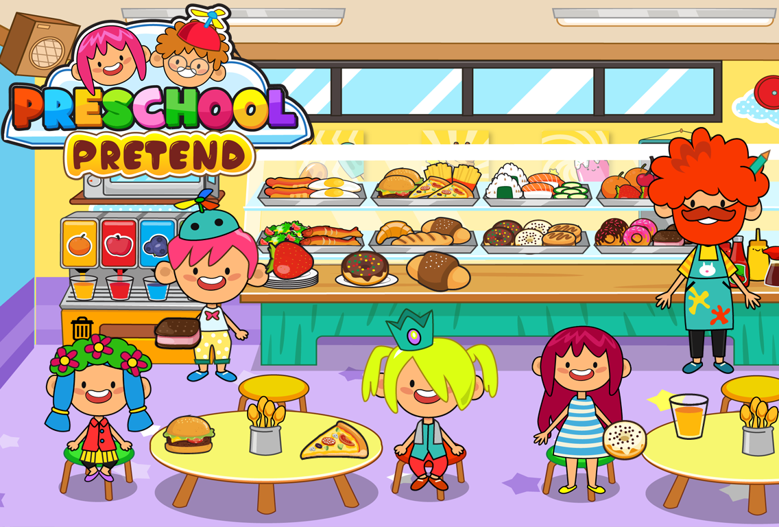 pretend preschool kids learning games android apps on
