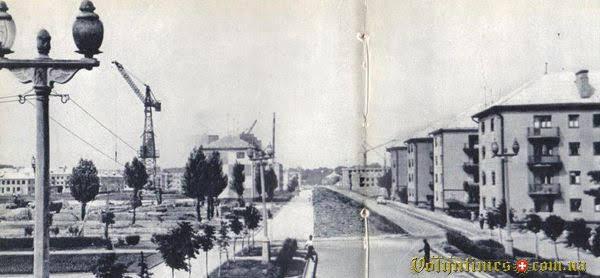 Проспект на початку 1960-х. З фотоальбому Луцьк 1964