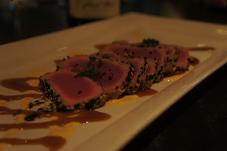 Photo: The Seared Sesame Crusted Tuna was amazing!  My favorite of the night!