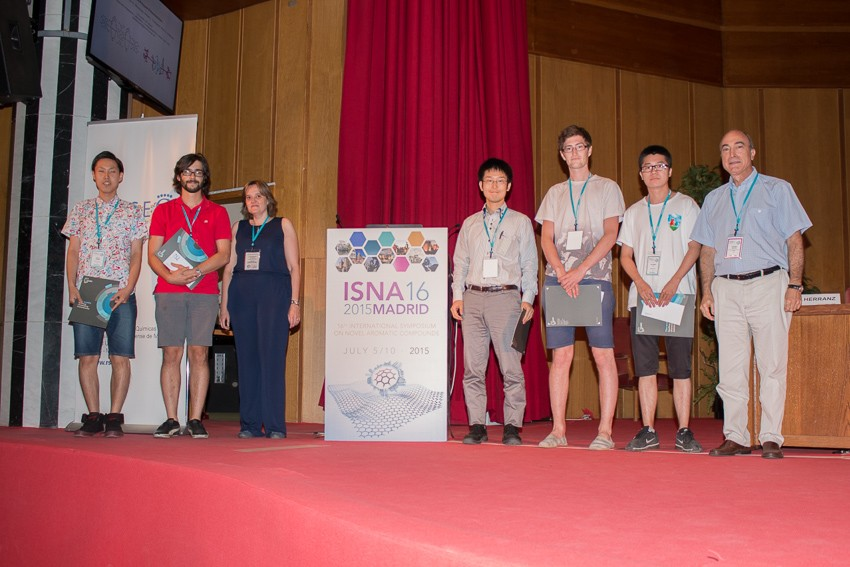 Photo: Evan the rest of the poster award winners at ISNA