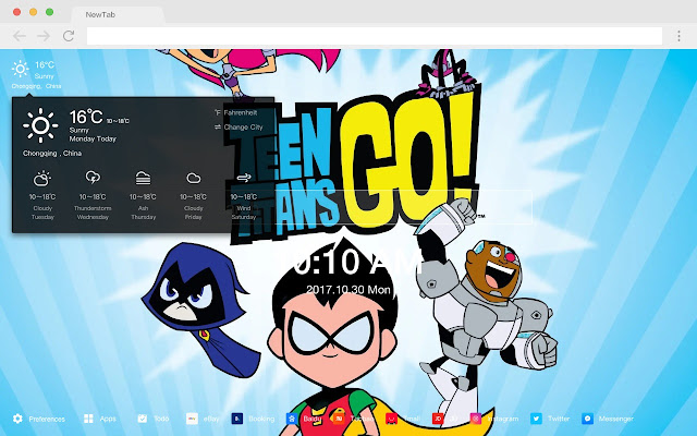 Teen Titan Pop Anime HD New Tabs Theme