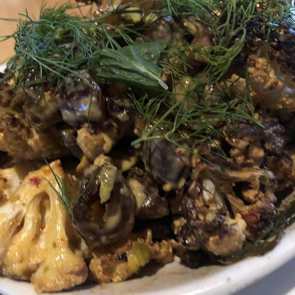 Charred cauliflower (GF)
