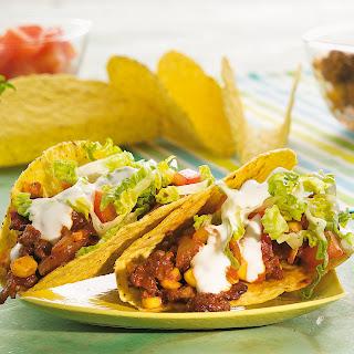 Hot Tacos mit Mais-Hack-Füllung