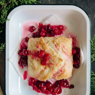 Pastry Wrapped Brie with Warm Cranberries