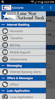 Screenshot of LSNB Mobile Banking