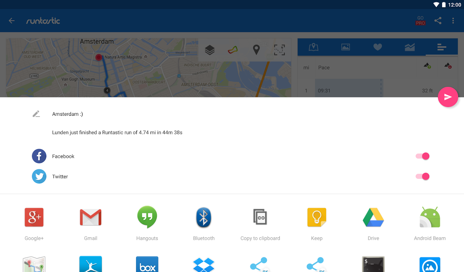 Runtastic Running Distance & Fitness Tracker- screenshot
