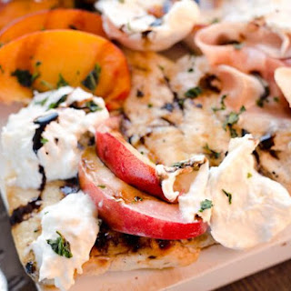 Balsamic Chicken with Peaches & Prosciutto
