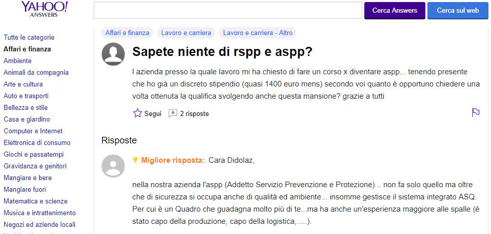 guadagno RSPP responsabile del servizio di prevenzione e protezione,blog di hs formazione,