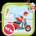 Super Delivery Boy Pizza Jump icon