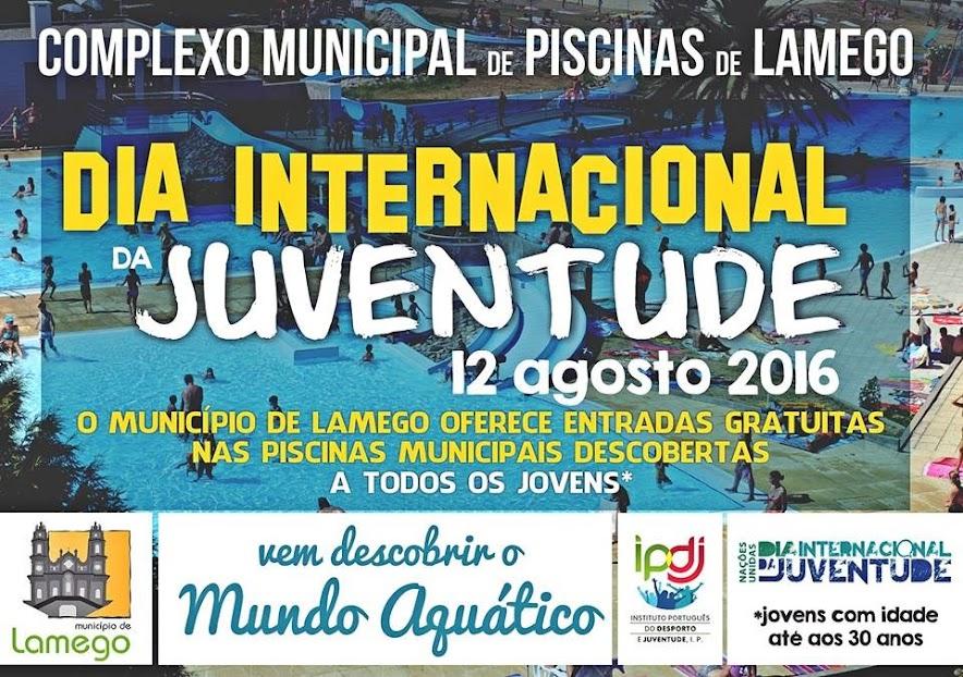 Dia Internacional da Juventude com entradas gratuitas no Complexo Municipal de Piscinas de Lamego.