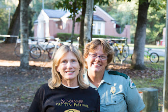 Photo: Sharon with Michelle, the park manager of Stephen Foster