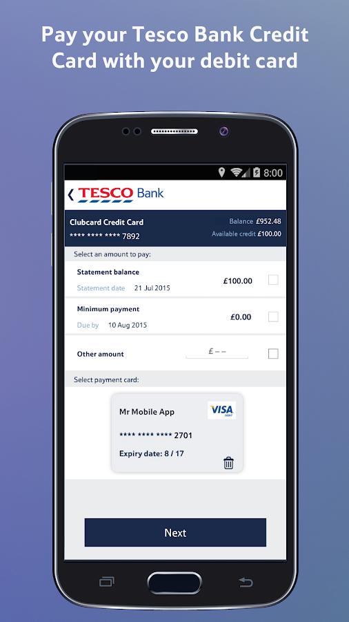 Tesco credit card gambling transactions
