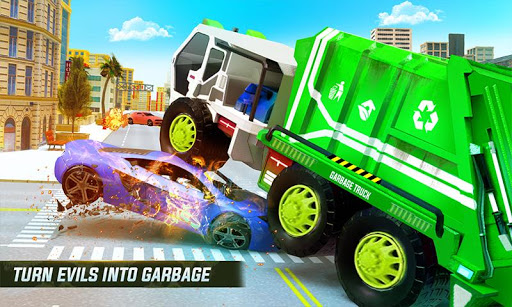Flying Garbage Truck Robot Transform: Robot Games 19 screenshots 1