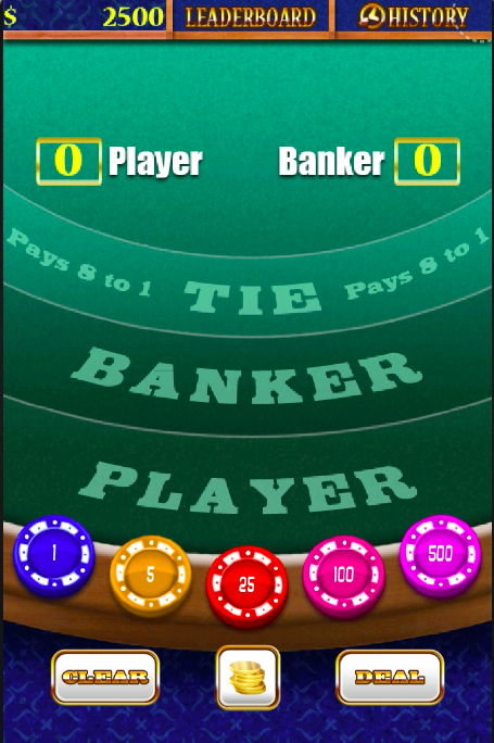 Golden Baccarat Casino- screenshot