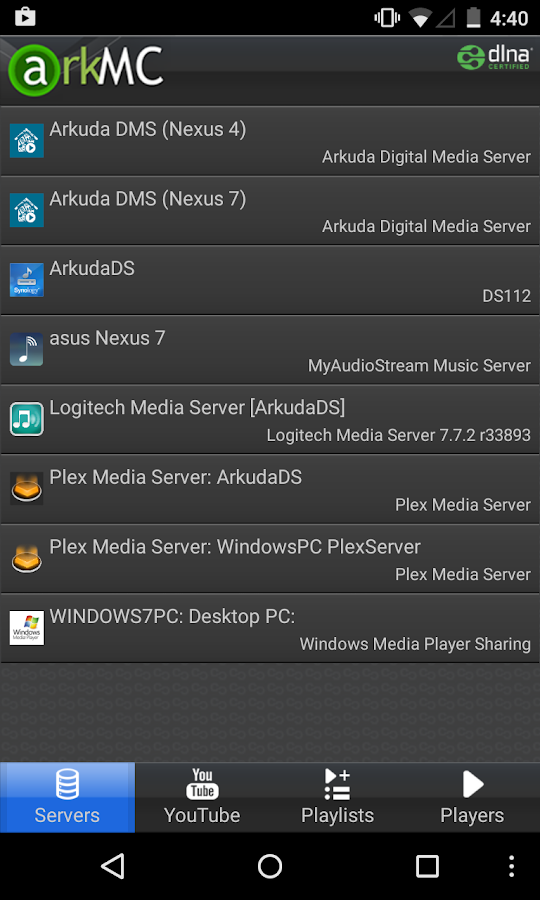 ArkMC - Media Streamer, Player- screenshot
