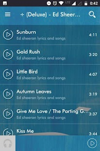 Ed Sheeran Music Lyrics - náhled