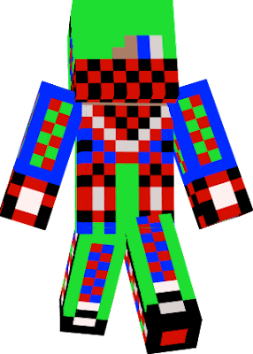 i like green blue red white and black and i wana be our skin for minecraft