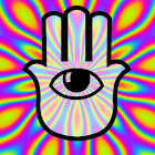 Psychedelic camera icon