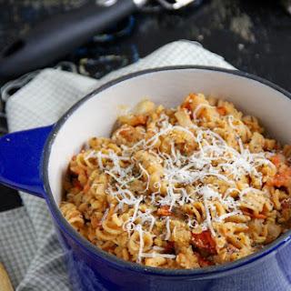 One Pot Tomato Lentil Pasta