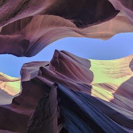 Antelope Canyon in Arizona by Arif Sarıyıldız - Landscapes Caves & Formations ( navajo, arizona, travel, usa, antelope canyon, slut canyon, colored stones )