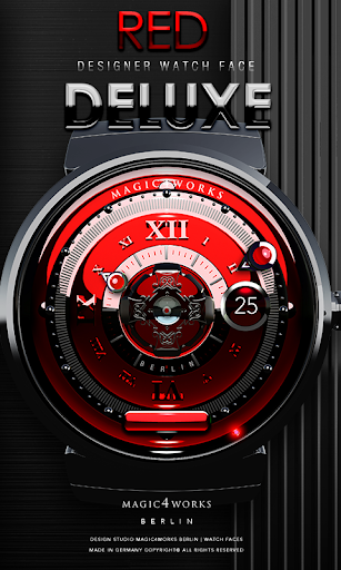 Red Deluxe designer Watch Face
