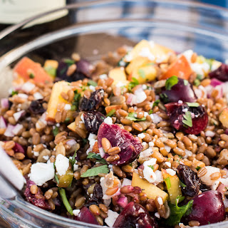 Summer Wheat Berry Salad with Stone Fruits and Goat Cheese