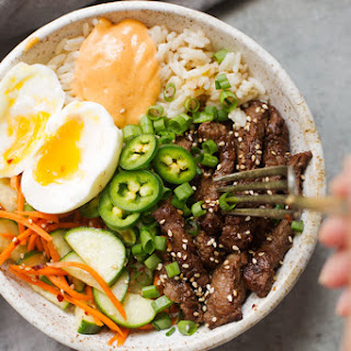 Korean BBQ Bowls with Garlic Scented Rice
