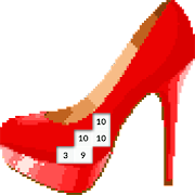 Pixel Art Princess Heels Color By Number Game icon