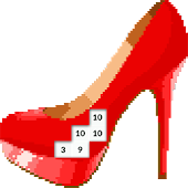 Pixel Art High Heels Color By Number Game icon