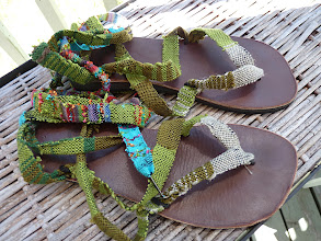 Photo: my first  pair sandal straps