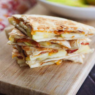 Honeycrisp Apple Quesadillas with Bacon and Cheddar