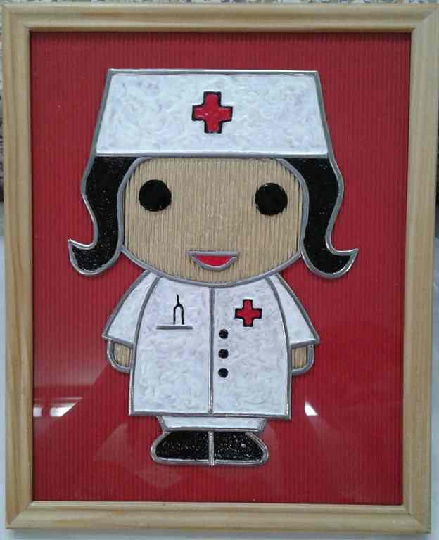 Faux-vitrail - infirmière