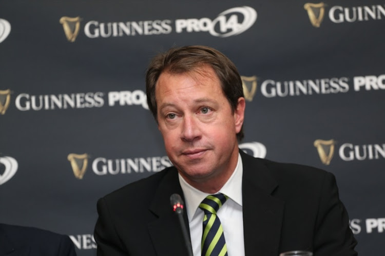 Jurie Roux (SARU CEO) during the South African launch of Guinness PRO14 at Southern Sun Cullinan on August 11, 2017 in Cape Town, South Africa.