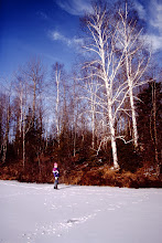 Photo: Winter on the lake (1994-1995).