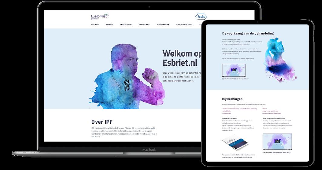 Roche - Esbriet - Website - Branding - Visuals - Peppermint Media