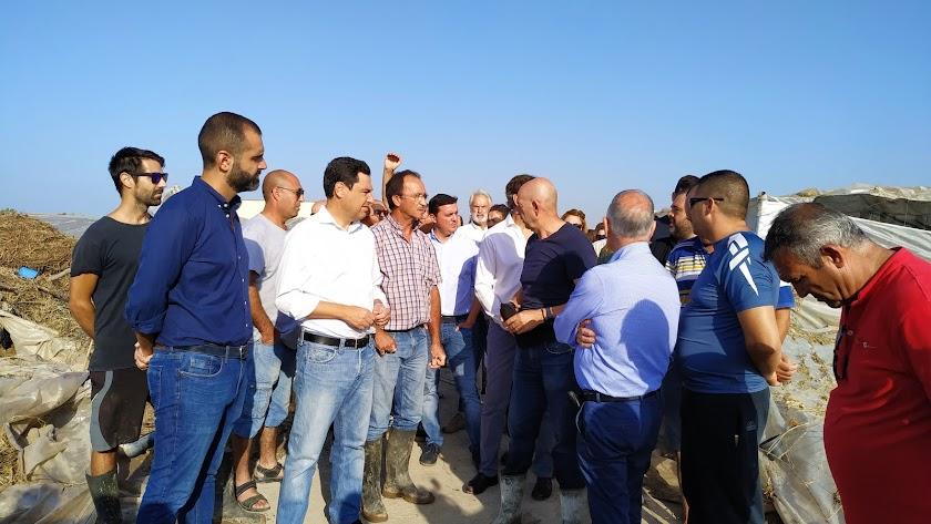 Encuentro con los agricultores del presidente de la Junta de Andalucía