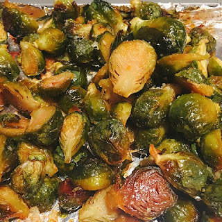 Chili Honey Roasted Brussels Sprouts.
