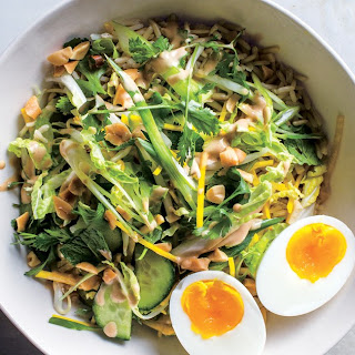 Crunchy Veg Bowl With Warm Peanut Sauce