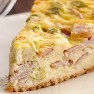 Easy Cheese and Bacon Quiche.