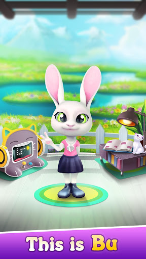 Bu the Baby Bunny - Cute pet care game app (apk) free download for Android/PC/Windows screenshot