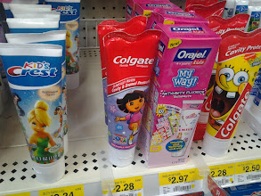 Photo: I loved that as soon as I walked into the oral care aisle I immediately spotted all of my kids favorite characters!