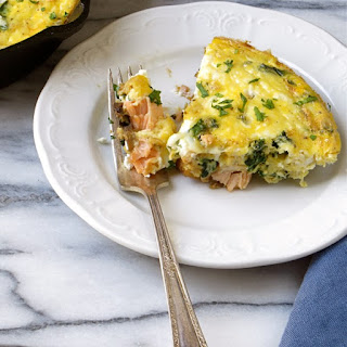 Salmon And Caramelized Onion Frittata