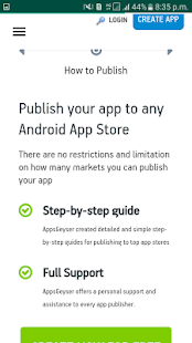 AppsGeyser  free App creater - náhled